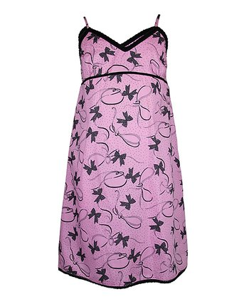 Pink Bow Nightgown - Girls