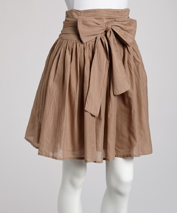 Beige Bow Skirt