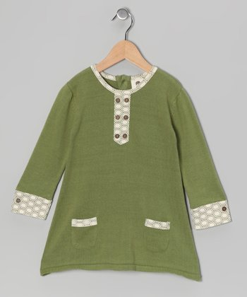 Dill Sweater Button Organic Dress - Infant, Toddler & Girls