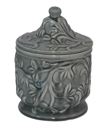 Gray Small Ceramic Jar