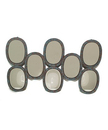 Ovals Metal Wall Mirror