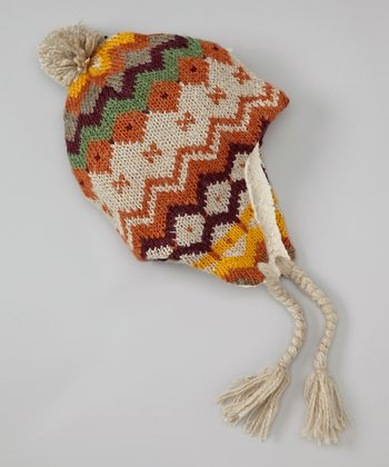 Orange Multibright Earflap Beanie