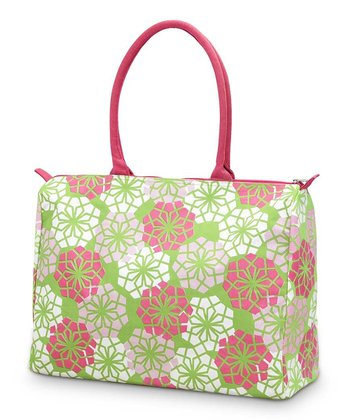 Pink & Green Floral Everdeen Beach Tote