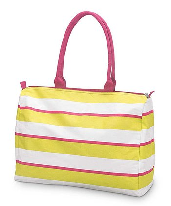 Yellow & Pink Chesapeake Beach Tote