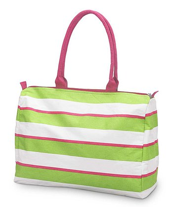 Green & Pink Chesapeake Beach Tote