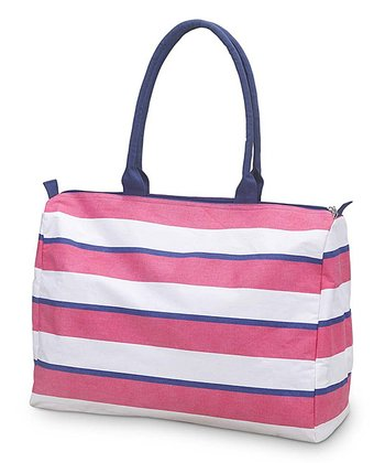 Pink & Navy Chesapeake Beach Tote