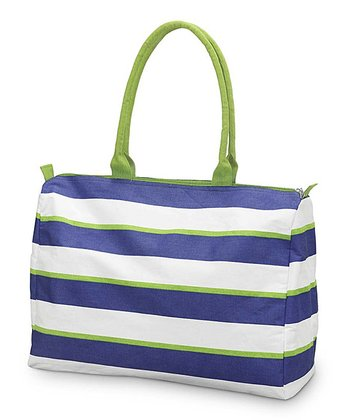 Navy & Green Chesapeake Beach Tote