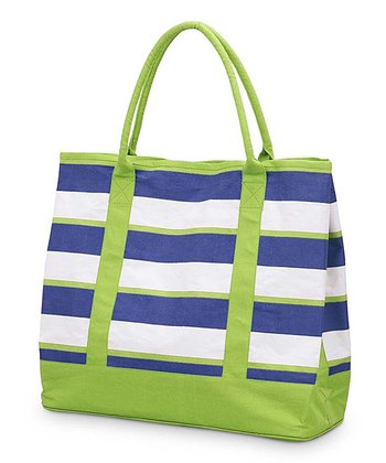 Navy & Green Chesapeake Large Boat Bag