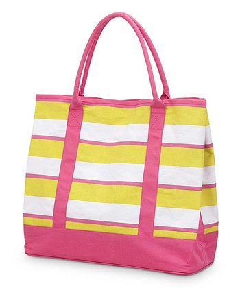 Yellow & Pink Chesapeake Large Boat Bag