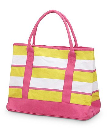 Yellow & Pink Chesapeake Medium Boat Bag