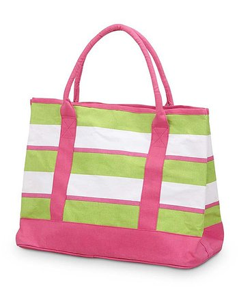 Green & Pink Chesapeake Medium Boat Bag