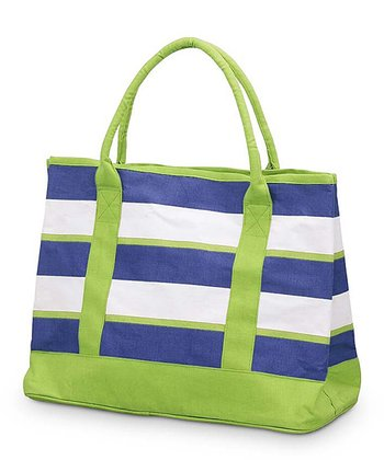 Navy & Green Chesapeake Medium Boat Bag