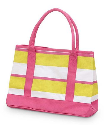 Yellow & Pink Chesapeake Small Boat Bag