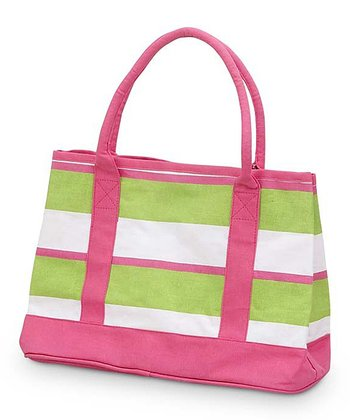 Green & Pink Chesapeake Small Boat Bag