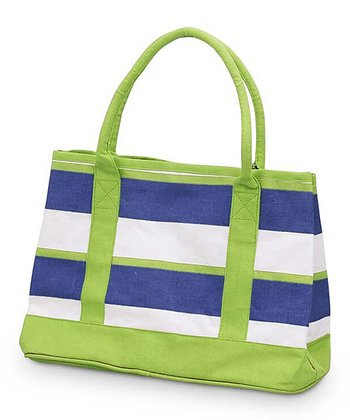Navy & Green Chesapeake Small Boat Bag