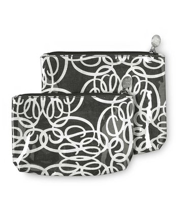 Black Classic Curls Cosmetic Bag Set