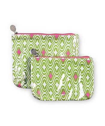 Green & Pink Curve Appeal Cosmetic Bag Set