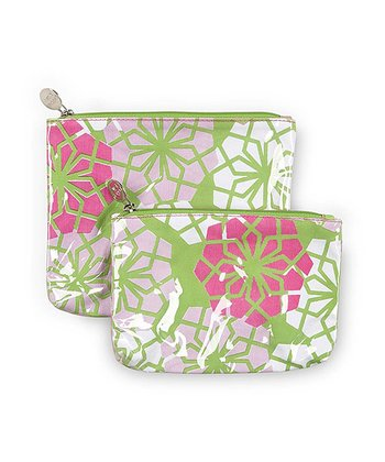 Green Floral Everdeen Cosmetic Bag Set