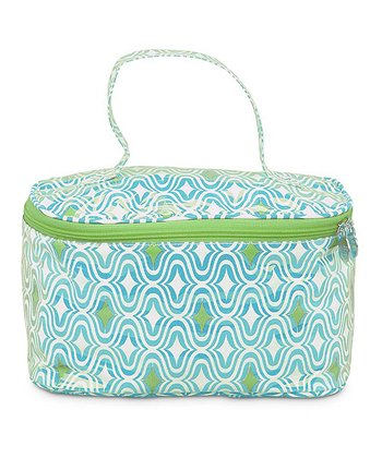 Turquoise & Green Curve Appeal Train Case