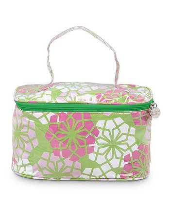 Pink & Green Everdeen Train Case