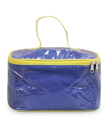 Navy & Yellow Color Block Train Case