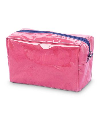 Pink & Navy Color Block Cosmetic Bag