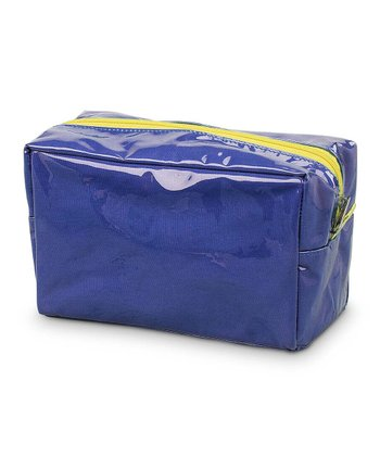 Navy & Yellow Color Block Cosmetic Bag