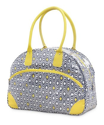 Navy & Yellow Curve Appeal Day Traveler