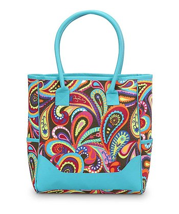 Turquoise Paisley Pizzazz Nantucket Tote
