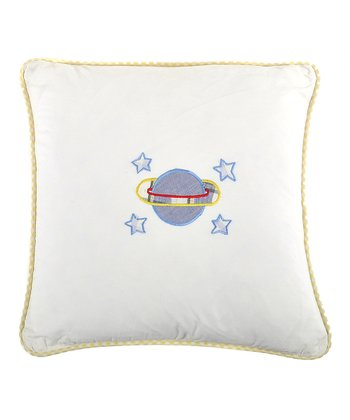 Galaxy Planet Appliqué Pillow