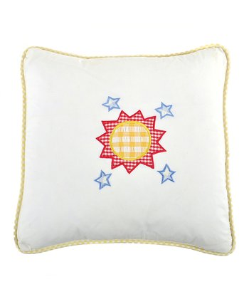 Galaxy Sun Appliqué Pillow