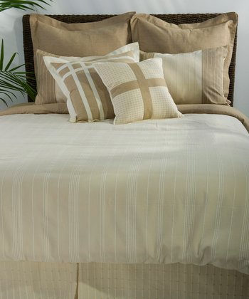 Natural & Chamois Melon Duvet Set