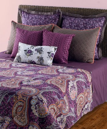 Purple & Gray Duvet Set