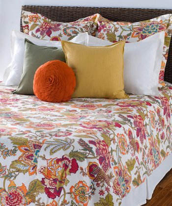 White & Orange Duvet Set