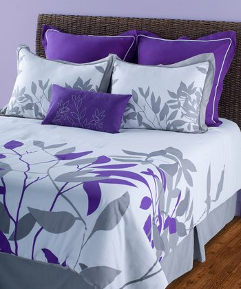 Putty & Purple Comforter Set