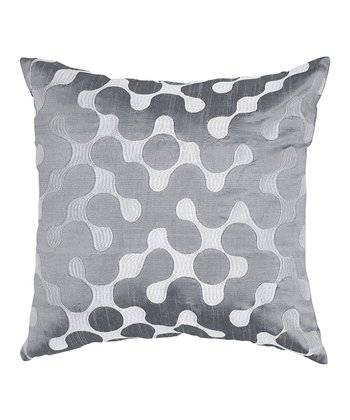 Gray & Silver Link Contemporary Throw Pillow
