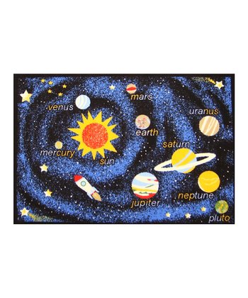 Navy Outer Space Rug