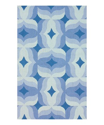 Blue Nora Wool Rug