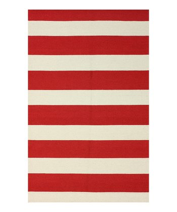 Red Peppermint Wool Rug