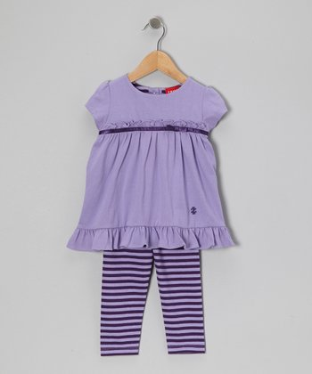 Lilac Ruffle Tunic & Leggings - Toddler