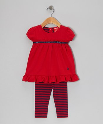 Red Ruffle Tunic & Leggings - Infant
