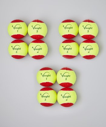Red & Yellow Tennis Ball – Set of 12