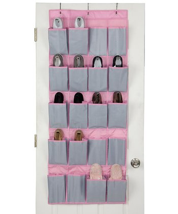 Feather Gray Over the Door Shoe Organizer