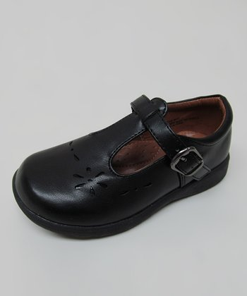 Black Jackie T-Strap Shoe