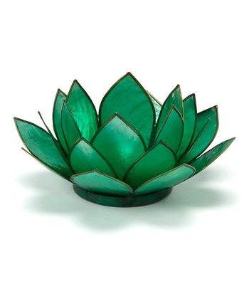 Green Lotus Tealight Holder