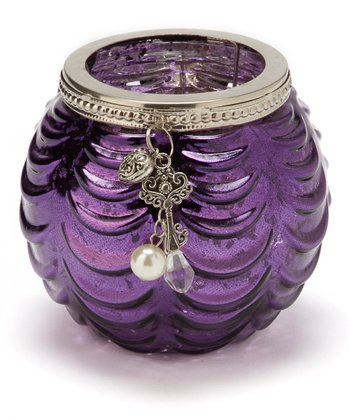 Purple Charm Large Votive Holder