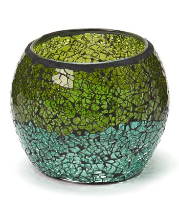 Green & Blue Mosaic Tealight Holder