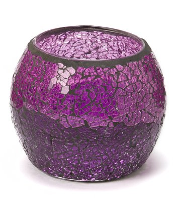 Purple & Pink Mosaic Tealight Holder