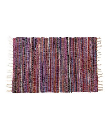 Purple & Blue Chindi Rug