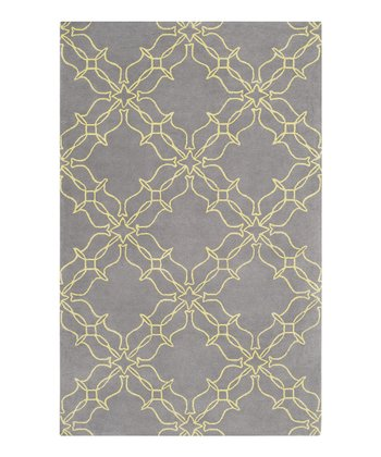 Pewter & Olive Oil Aimee Wilder Wool Rug